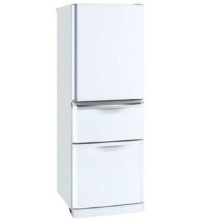 三菱 - 冷蔵庫 ホワイト 三菱 自動製氷 3ドア ファミリータイプ