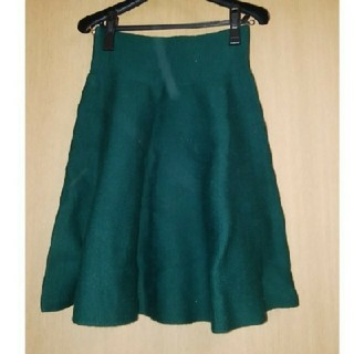 上品可愛い緑スカート サイズフリー(ひざ丈スカート)