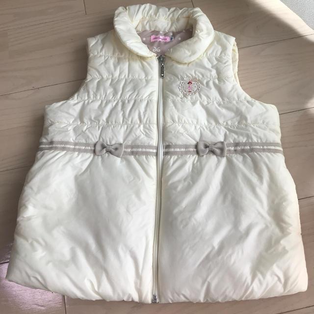 mikihouse(ミキハウス)のミキハウス リーナちゃん ベスト 120 キッズ/ベビー/マタニティのキッズ服 女の子用(90cm~)(ジャケット/上着)の商品写真