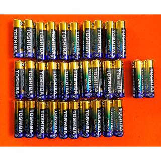 東芝 - TOSHIBA 東芝 単3 単3電池/単三電池/乾電池 30本 おまけ2本付き