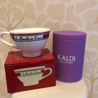 カルディ(KALDI)のハロウィン限定 コーヒーキャニスター&マグカップ(マグカップ)