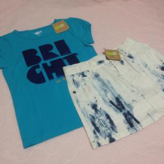エイチアンドエム(H&M)の新品タグ付き☆Crazy8上下セットブルーマーブルジンボリーH&Mクレイジー8(ワンピース)