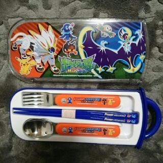 ポケモン(ポケモン)のポケットモンスター/サン&ムーン/食洗機対応スライド式トリオセット(弁当用品)