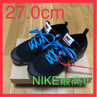 NIKE - OFF-WHITE NIKE AIR VAPORMAX BLACK 27.0cm