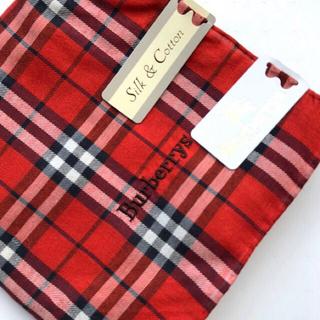 BURBERRY - Burberryバーバリーハンカチ silk&cotton