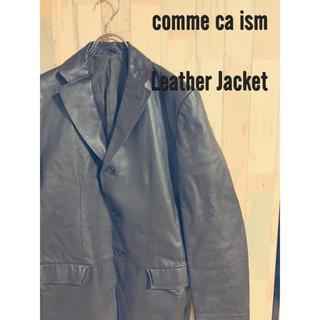 コムサイズム(COMME CA ISM)のコムサイズム 豚革 中古 レザー ジャケット 古着 テーラード コムサ(レザージャケット)