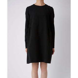 BARNEYS NEW YORK - YOKO CHAN  Long-sleeveBackGathered Dress