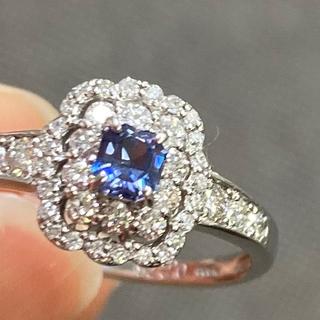 PT 900  ベニトアイト ダイヤモンドリング(リング(指輪))
