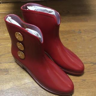 ヴィヴィアンウエストウッド(Vivienne Westwood)の【未使用品】ヴィヴィアン レインブーツ 赤(レインブーツ/長靴)