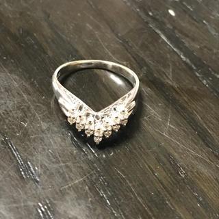 天然ダイヤモンドプラチナリング#8(リング(指輪))