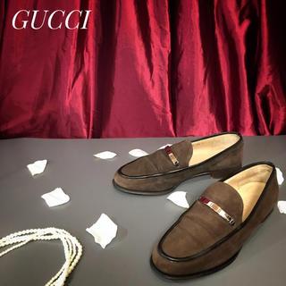 グッチ(Gucci)の【GUCCI】グッチ 約25.0cm ビットローファー スエード 革靴(スリッポン/モカシン)