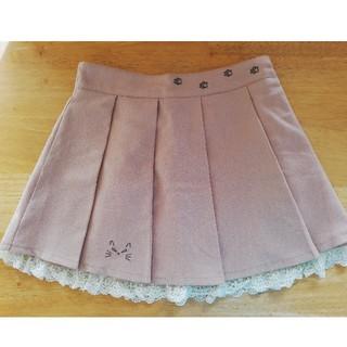 Ank Rouge - 猫刺繍プリーツスカート