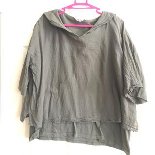 サマンサモスモス(SM2)のSM2 グリーンセーラーブラウス(シャツ/ブラウス(半袖/袖なし))