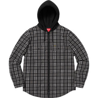 Supreme - supreme hooded plaid work shirt