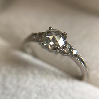 ローズカットダイヤモンド Ptリング 8.5号(リング(指輪))