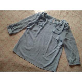 リランドチュール(Rirandture)のリランドチュール☆肩リボンが可愛いブラウス☆1水色系(シャツ/ブラウス(長袖/七分))