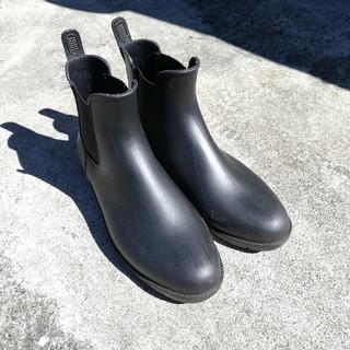 黒レインシューズ 26.0cm(レインブーツ/長靴)