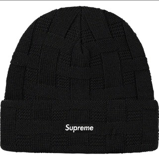 Supreme - supreme Basket Weave Beanie black