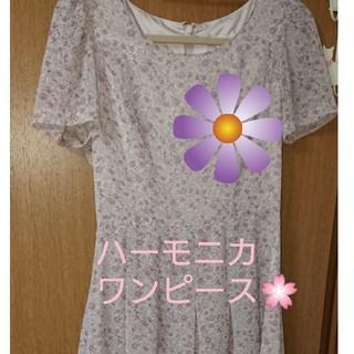 🌸裾がフワフワ揺れる小花柄のワンピース