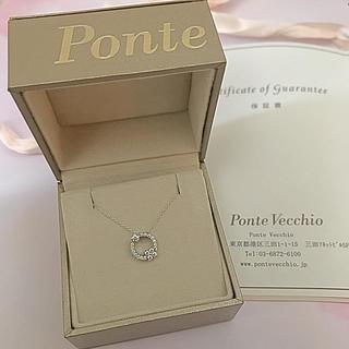 PonteVecchio - Ponte Vecchio◆現行品 Pt999ダイヤモンドネックレス
