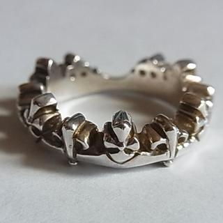 美品リブラLiblaシルバー950リング指輪14.5号クロスBSフレア(リング(指輪))