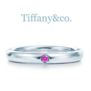 ティファニー(Tiffany & Co.)の送料込み♡ティファニーのリング♡ピンクサファイヤ♡シルバー♡9号♡レア物♡ (リング(指輪))