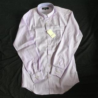 コムサイズム(COMME CA ISM)の    パープル チェックシャツ(シャツ)