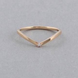 エテ(ete)のete K10YG ダイヤモンドペアリングVライン(リング(指輪))