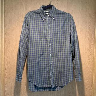 ニコアンド(niko and...)のネイビーxグリーン チェックシャツ(シャツ/ブラウス(長袖/七分))
