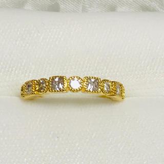 ミル打ち ハーフエタニティリング レディース 指輪(リング(指輪))