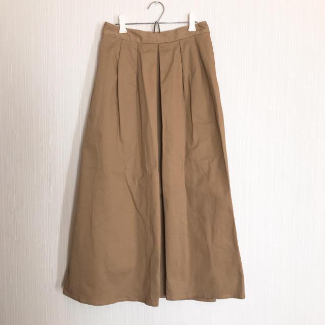 GU(ジーユー)のGU チノマキシスカート Lサイズ ベージュ レディースのスカート(ロングスカート)の商品写真
