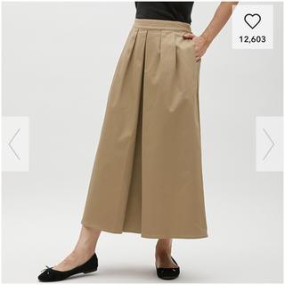 GU - GU チノマキシスカート Lサイズ ベージュ