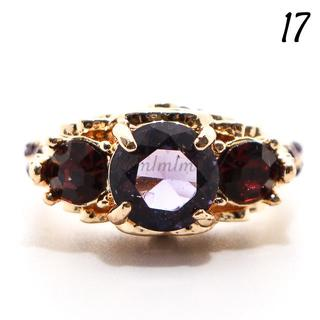 Y18 リング 17号 人工石 ラベンダー ガーネット ゴージャス(リング(指輪))