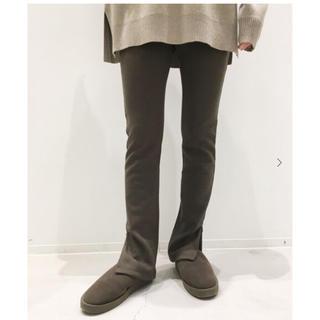 アパルトモンドゥーズィエムクラス(L'Appartement DEUXIEME CLASSE)のL'Appartement Wool Zip Leggings  ブラウン(レギンス/スパッツ)