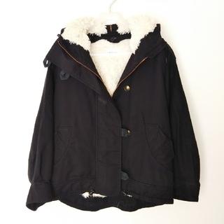 ツモリチサト(TSUMORI CHISATO)のツモリチサト アウター 黒  ブルゾン  コート  オーバーサイズ  ボア(ブルゾン)