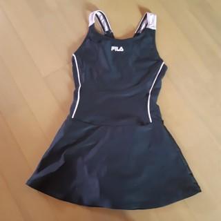 FILA - ワンピース水着 黒×ピンク 140cm スクール水着