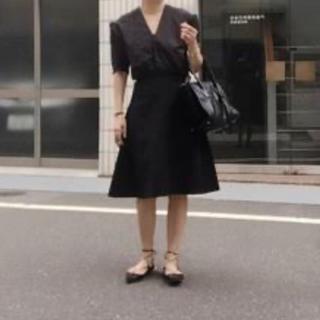 ドゥーズィエムクラス(DEUXIEME CLASSE)のトリアセボンディングサーキュラースカート 36(ひざ丈スカート)