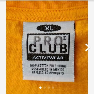 PRO CLUB Tシャツ XL オレンジ アメリカ規格 メキシコ製(Tシャツ/カットソー(半袖/袖なし))