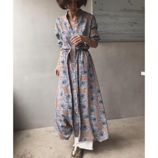 Ameri VINTAGE - AMERI TIE SHIRT DRESS 花柄ワンピース