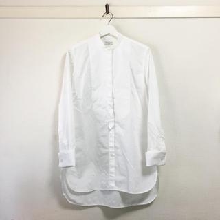 DRIES VAN NOTEN - DRIES VAN NOTEN❣️美品 ノーカラー スリットロングシャツ
