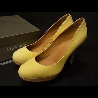 ドゥーズィエムクラス(DEUXIEME CLASSE)のCHEMBUR ヒール パンプス 37 1/2(約24.5cm) 靴 レディース(ハイヒール/パンプス)