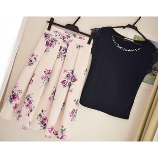 ミッシュマッシュ(MISCH MASCH)のミッシュマッシュ 花柄フレアスカート(ひざ丈スカート)