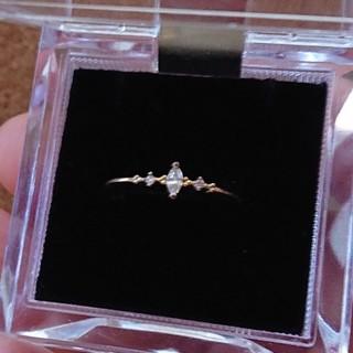 アネモネ(Ane Mone)の華奢なキュービックジルコニアの指輪(リング(指輪))