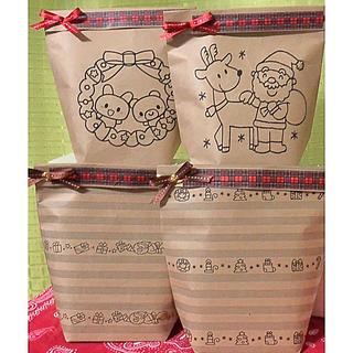 ハンドメイド紙袋【クリスマス❶】8枚