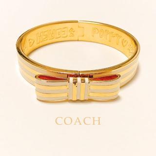 コーチ(COACH)の美品*COACH|リボン型バングル(袋付き)(ブレスレット/バングル)