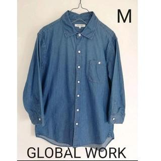 グローバルワーク(GLOBAL WORK)のGLOBAL WORK デニムシャツ メンズ Mサイズ(シャツ)