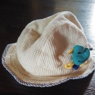 プチジャム(Petit jam)の【46cmサイズ】プチジャム 青い鳥のベビー帽子(帽子)
