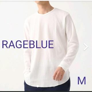 RAGEBLUE - RAGEBLUE 【抗菌防臭】TCワッフルロングクルー Mサイズ