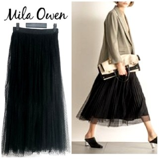 ミラオーウェン(Mila Owen)の2019年(春に購入)【ミラオーウェン】ロング チュール スカート(ひざ丈スカート)