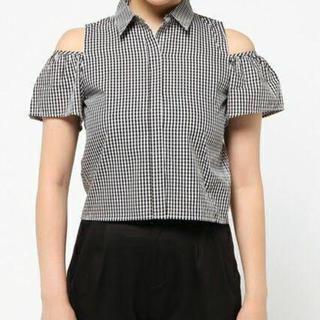スライ(SLY)のギンガムチェックシャツ(シャツ/ブラウス(半袖/袖なし))